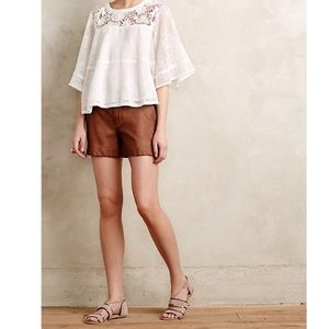 Anthropologie Pilcro Quilted Vegan Leather Shorts
